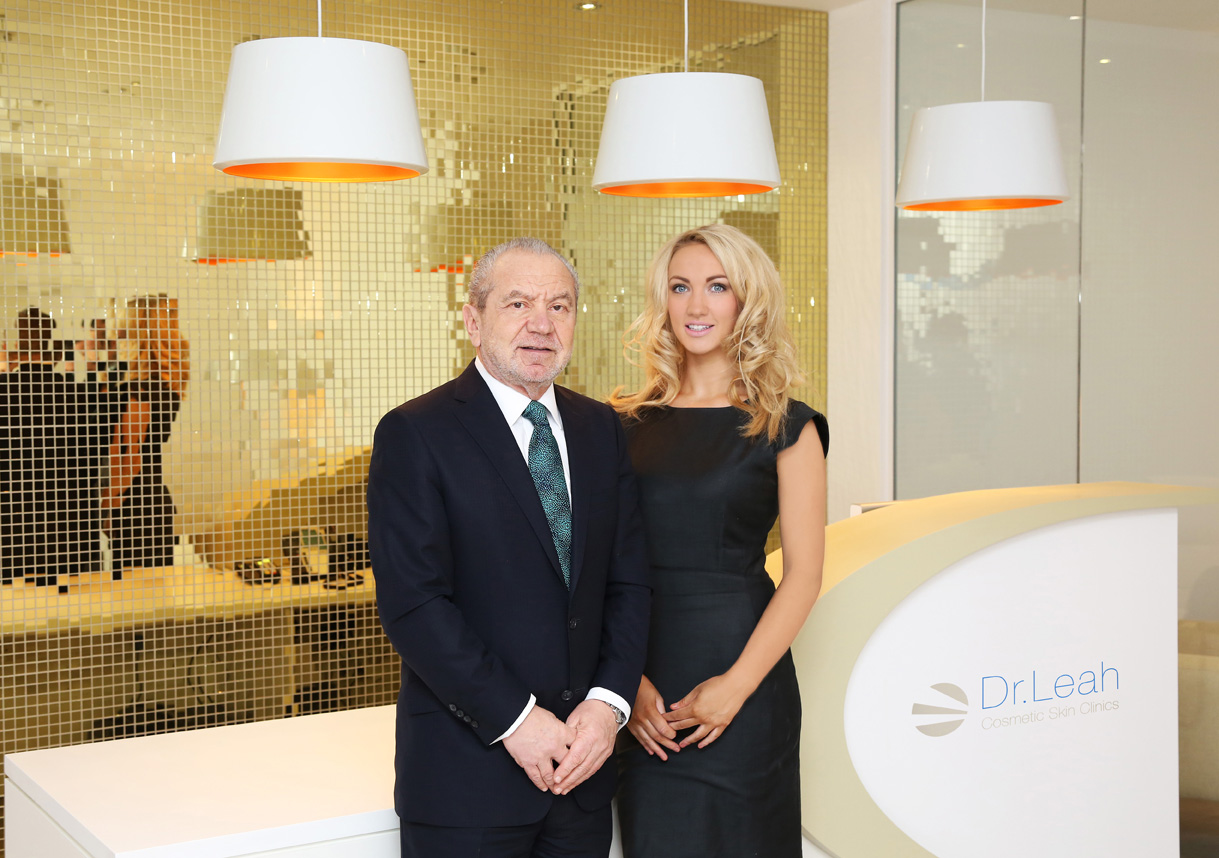 Dr Leah Totton with Lord Alan Sugar