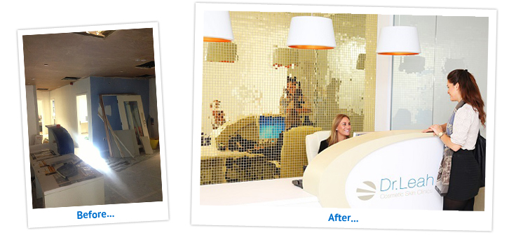 The Dr Leah Clinic in London, before and after renovations were made