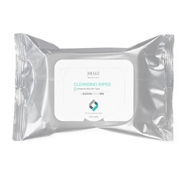 Pre-moistened, textured cleansing wipes